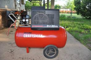 sears craftsman air compressor 5hp 30 gallon tank $ 220 this air