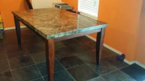 7 piece Marble Top dining table
